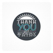 Vintage thank you card Stock Illustration