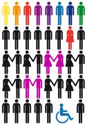 Vector people icon set Stock Illustration