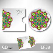 Stock Illustration of CD cover design template with ukrainian ethnic style