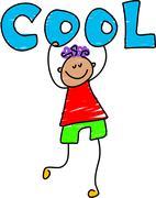 Cool Kid Stock Illustration