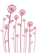 abstarct red roses - stock illustration