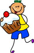 Cupcake Kid Stock Illustration