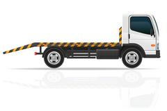 Tow truck for transportation faults and emergency cars vector illustration Stock Illustration