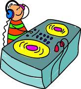 DJ Kid - stock illustration