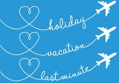 Holiday, vacation, flying, vector set Piirros
