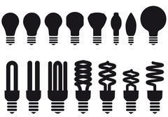 energy saving bulbs, vector - stock illustration