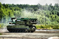 Mobile missile launcher Stock Photos