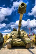 Self-propelled 152 mm howitzer 2S19 MSTA-S Stock Photos