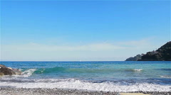 Sea waves rolling over the coast. Italy - stock footage