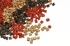 plastic granules - stock photo