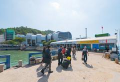 Passengers from hydrofoil saigon - vungtau Stock Photos