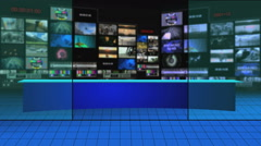 Virtual Broadcast Studio  - stock footage