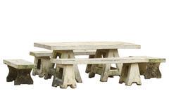 Garden table and chair set Stock Photos