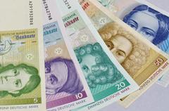 old german currency  - stock photo