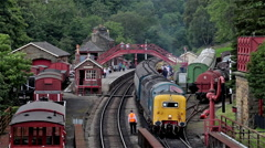ROYAL SCOTS GREY ENGINE, GOATHLAND, NORTH YORKSHIRE Stock Footage