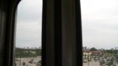 Chicago-El train-city skyline, pov2 Stock Footage