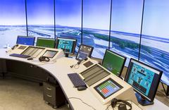 air traffic services authority - stock photo