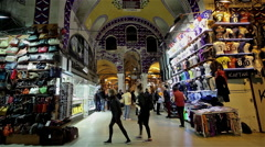BAG & FOOTBALL SHIRT STALL, GRAND BAZAAR ISTANBUL ,TURKEY Stock Footage