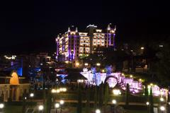 royal castle hotel at night - stock photo