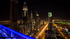 Downtown Dubai Timelapse Stock Footage