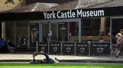YORK CASTLE MUSEUM CAFE, YORK, NORTH YORKSHIRE Stock Footage