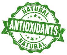 antioxidants green vintage isolated seal - stock illustration