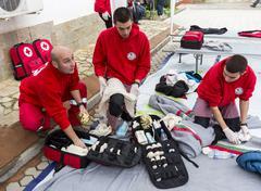 bulgarian red cross youth (brcy) voluntary organization - stock photo