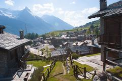 Gimillan,cogne,val of aosta,italy Stock Photos