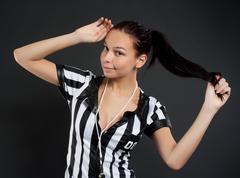 Stock Photo of Sexy Soccer Referee