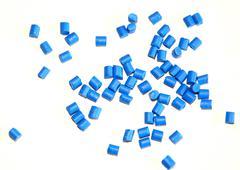 Blue pellets Stock Photos