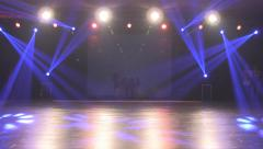 Stage in Lights before concert Stock Footage