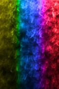 Macro of colorful water vapor in the window - gradient Stock Photos