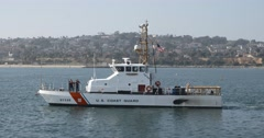 Coast Guard Cutter 4k 06 - stock footage