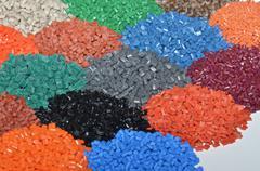 Heaps of polymer resin Stock Photos