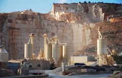 marble mine - stock photo
