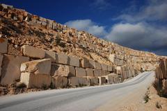 stock of marble blocks - stock photo