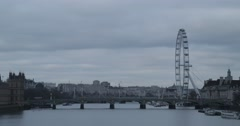 London Eye & Westminster Bridge | 4K Timelapse Stock Footage