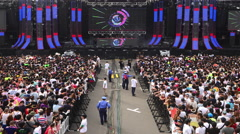 Time Lapse of Large Crowd at Electronic Music Festival Tokyo Japan Stock Footage