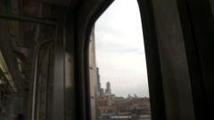 Stock Video Footage of Chicago-El train-sears-willis tower, cu pov