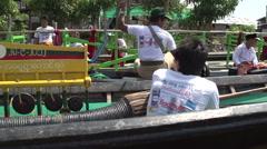 Phaung Daw Oo Pagoda Festival, boys making music Stock Footage