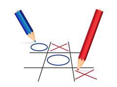 Tick tack toe illustration Stock Illustration