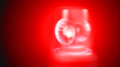 Blue and Red Flashing Emergency Lights Animation Stock Footage