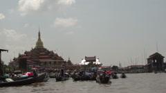 Phaung Daw Oo Pagoda Festival, temple complex Stock Footage