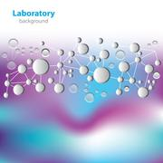 Science and research - molecular structure - laboratory research Stock Illustration