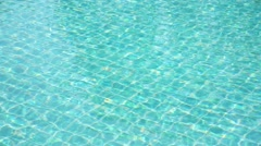Background of Rippled Pattern of Clean Water in a Blue Swimming Pool Stock Footage