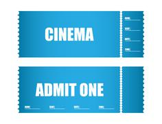 admit one ticket cinema tickets - stock illustration