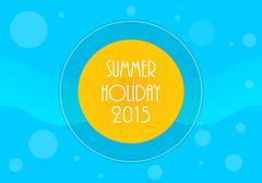 summer holiday background, vector illustration, eps10 - stock illustration
