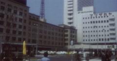 Atami Nagoja 70s 16mm White Building Stock Footage