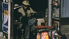 Tokyo 1975: shoeshiner in the street Stock Footage