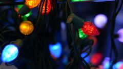 Glowing Christmas decorations. Stock Footage